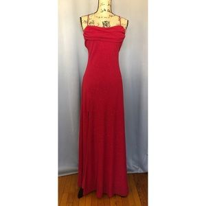 Betsy & Adam Sparkly Red Formal Dress